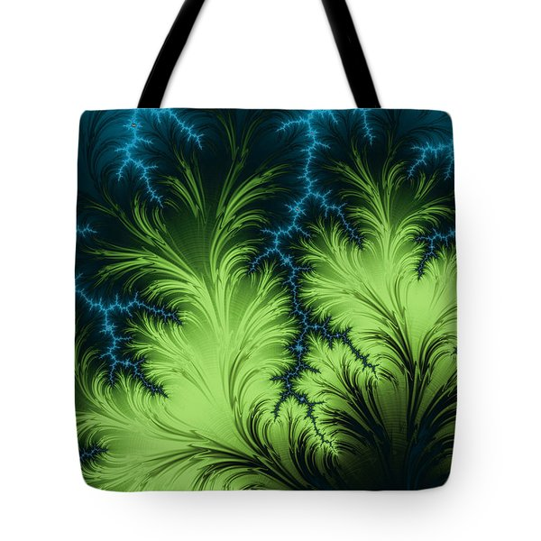 Tote Bag featuring the digital art Thunder Storm by Michele A Loftus
