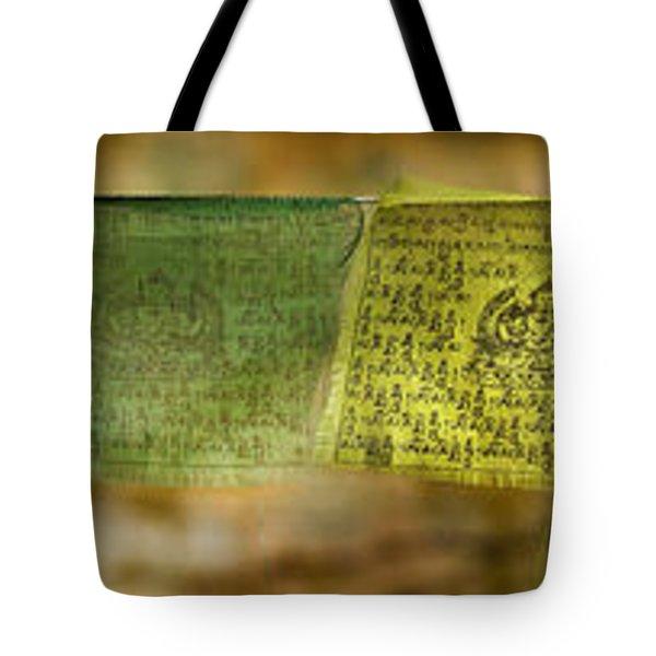 Tibetan Prayer Flags Tote Bag