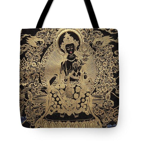 Tibetan Thangka  - Maitreya Buddha Tote Bag