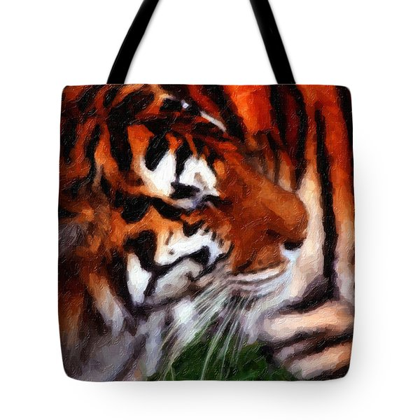 Tiger Tote Bag by Andre Faubert