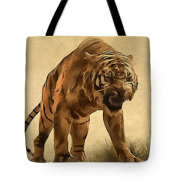 Tiger Tote Bag by Sergey Lukashin