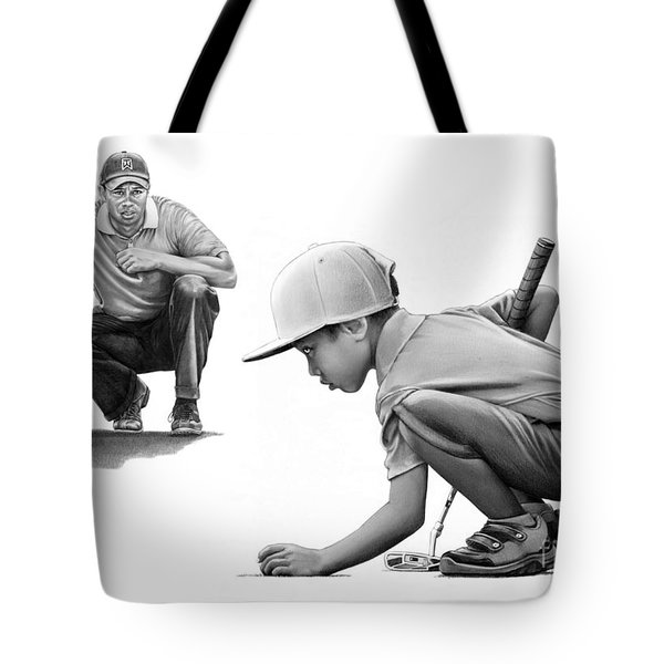 Tiger Woods A Life Time Tote Bag