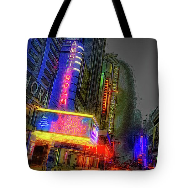 Tote Bag featuring the photograph Times Square by Theodore Jones