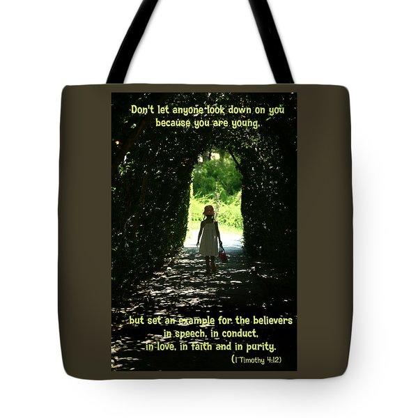 1 Timothy 4 12 Tote Bag