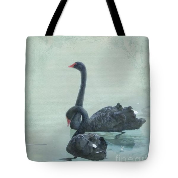 Black Swans Tote Bag by Cindy Garber Iverson