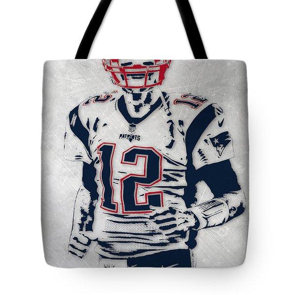 Tom Brady New England Patriots Pixel Art 5 Tote Bag