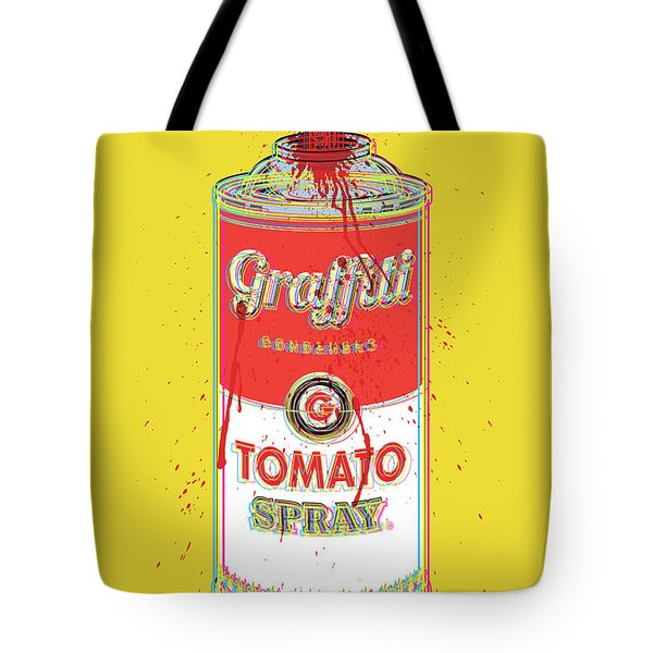 Tomato Spray Can Tote Bag