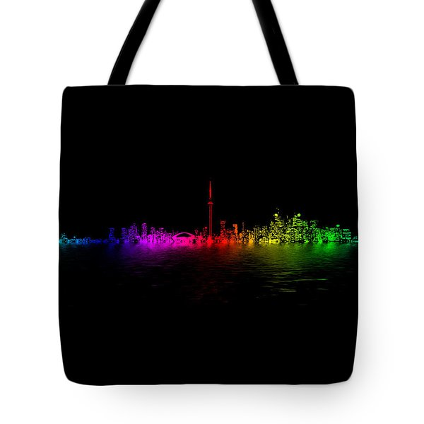 Tote Bag featuring the photograph Toronto Rainbow Reflection by Brian Carson