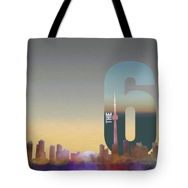 Toronto Skyline - The Six Tote Bag by Serge Averbukh