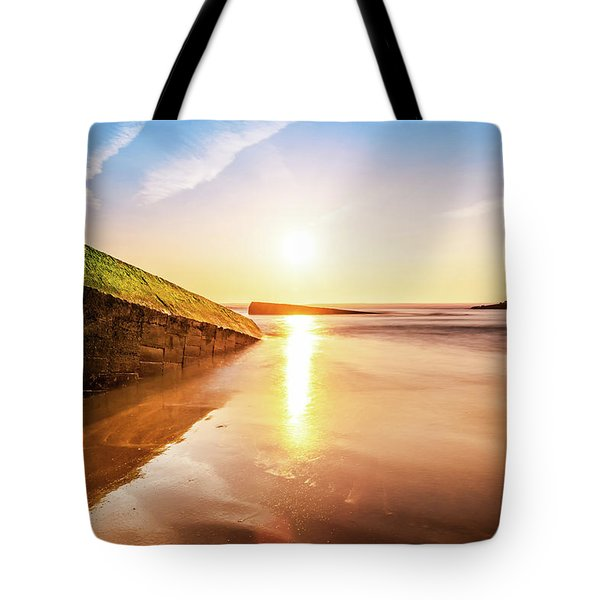 Touching The Golden Cloud Tote Bag