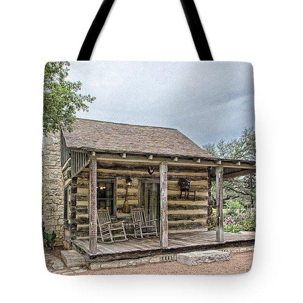 Town Creek Log Cabin Tote Bag