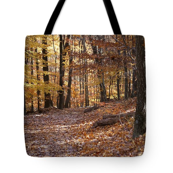 Tote Bag featuring the photograph Trail by Heidi Poulin