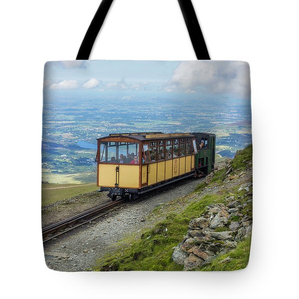 Tote Bag featuring the photograph Train To Snowdon by Ian Mitchell