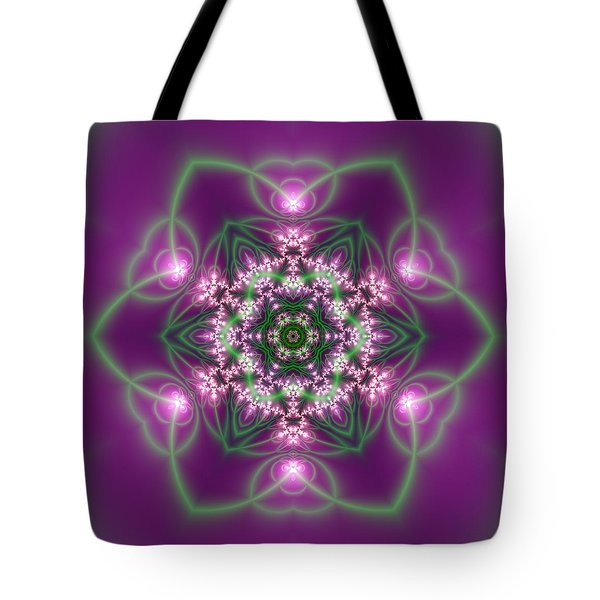 Tote Bag featuring the digital art Transition Flower 6 Beats 3 by Robert Thalmeier