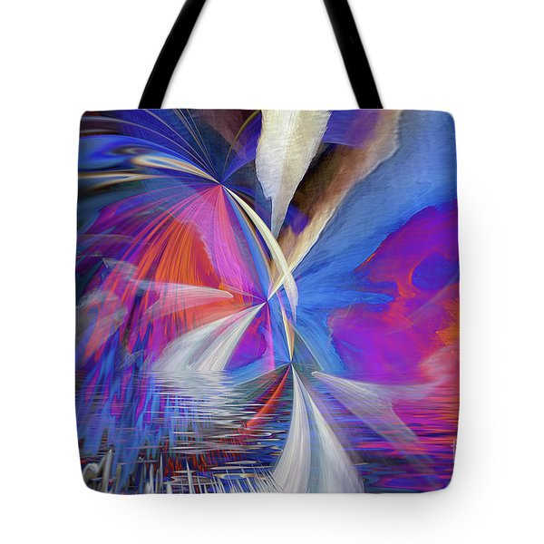 Tote Bag featuring the digital art Transition 2016 by Margie Chapman