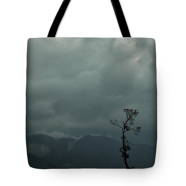 Tree And Mountain  Tote Bag by Rajiv Chopra