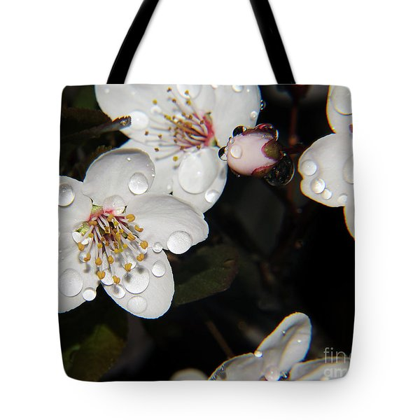 Tote Bag featuring the photograph Tree Blossoms by Elvira Ladocki