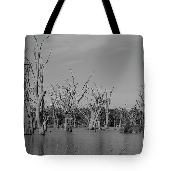 Tote Bag featuring the photograph Tree Cemetery by Douglas Barnard