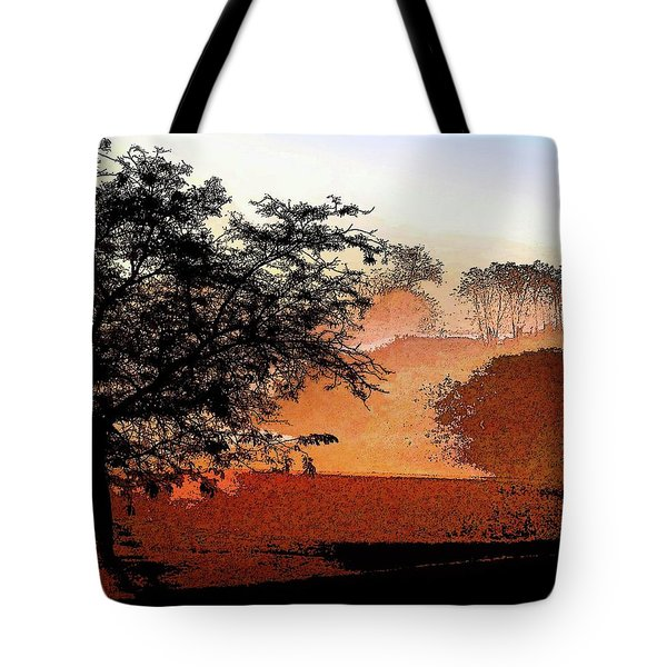 Tree In Morning Light Tote Bag
