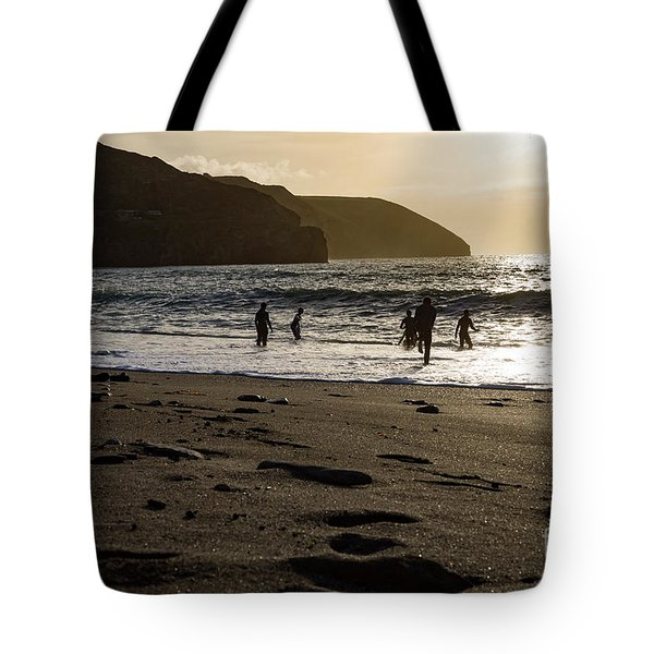 Tote Bag featuring the photograph Photographs Of Cornwall Trevellas Cove Cornwall by Brian Roscorla