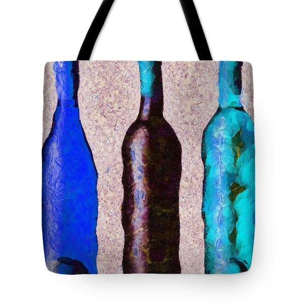 Tote Bag featuring the painting Trois Choix Savoureux. by Sir Josef - Social Critic - ART