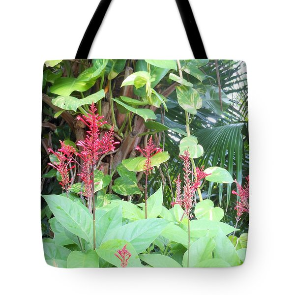Tote Bag featuring the photograph Tropical Flowers by Kay Gilley