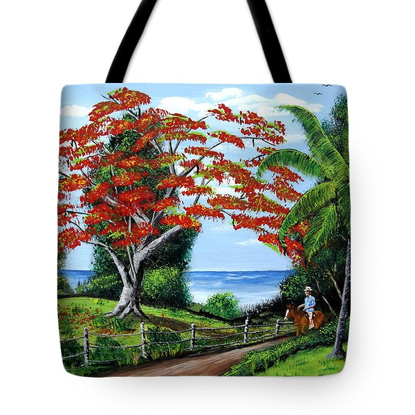 Tropical Landscape Tote Bag by Luis F Rodriguez