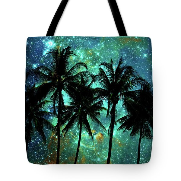 Tote Bag featuring the photograph Tropical Night by Delphimages Photo Creations