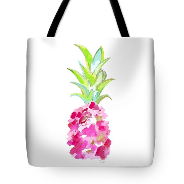 Tropical Pink And Gold Tote Bag
