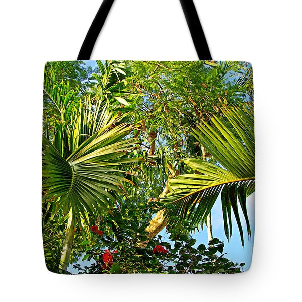Tropical Plants Tote Bag by Zalman Latzkovich