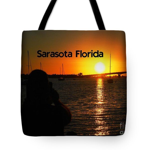 Tropical Sunset Tote Bag by Gary Wonning