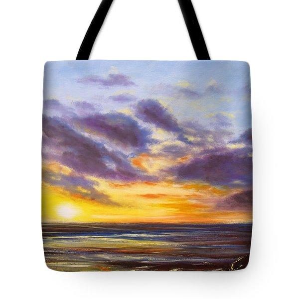 Tropical Sunset Tote Bag by Gina De Gorna