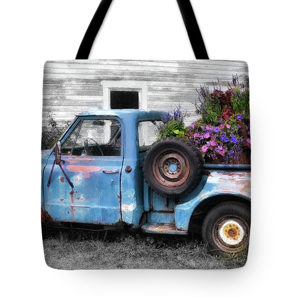 Truckbed Bouquet Tote Bag