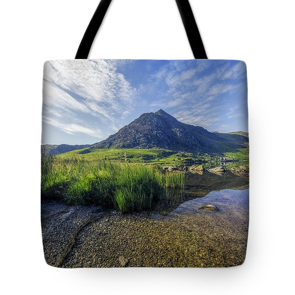 Tote Bag featuring the photograph Tryfan Mountain by Ian Mitchell