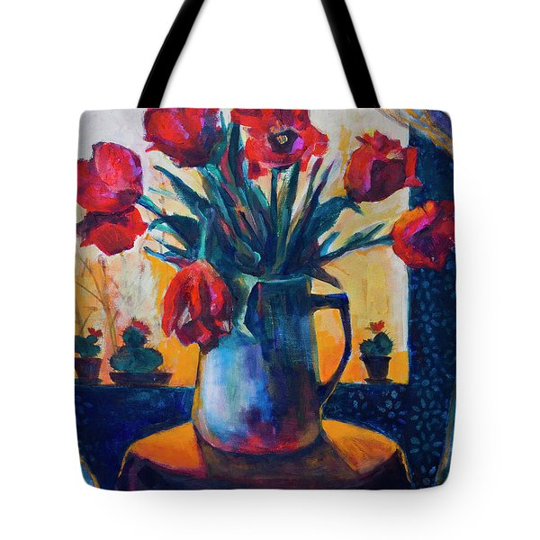 Tulips And Cacti Tote Bag