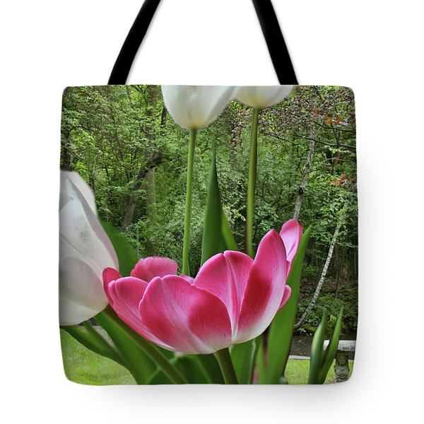Tote Bag featuring the photograph Tulips by Bonnie Willis