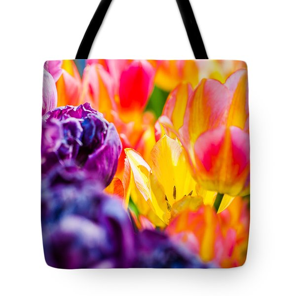 Tote Bag featuring the photograph Tulips Enchanting 39 by Alexander Senin