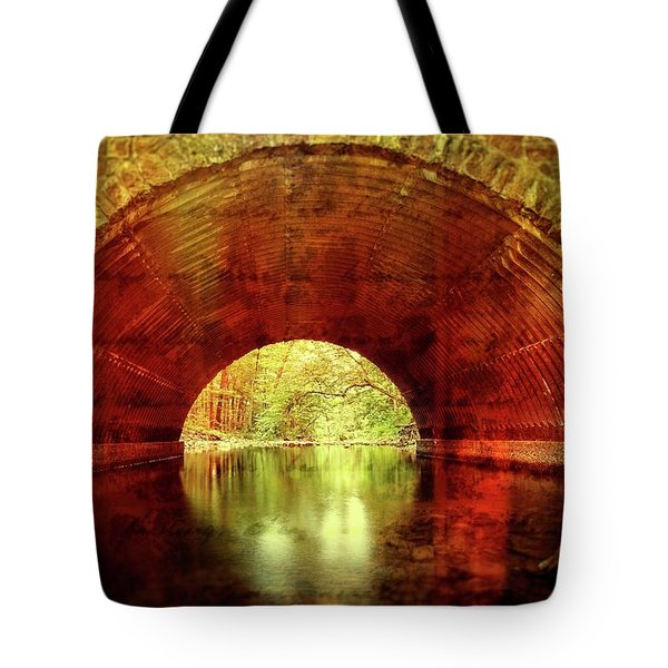 Tote Bag featuring the photograph Tunnel Vision by Alan Raasch