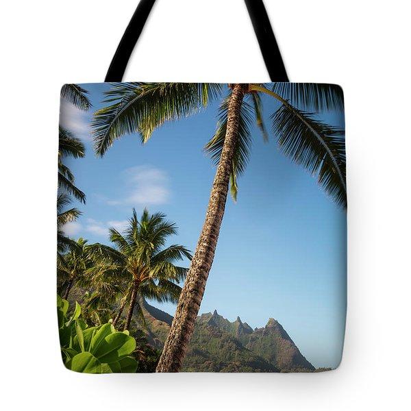 Tunnels Beach Haena Kauai Hawaii Bali Hai Tote Bag