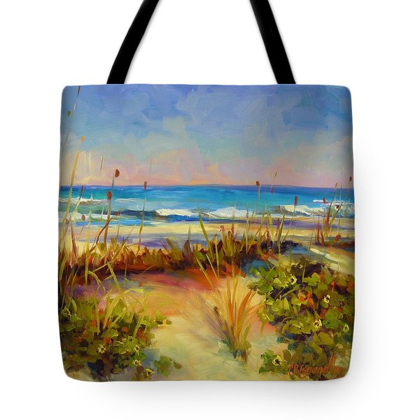 Turquoise Tide Tote Bag by Chris Brandley
