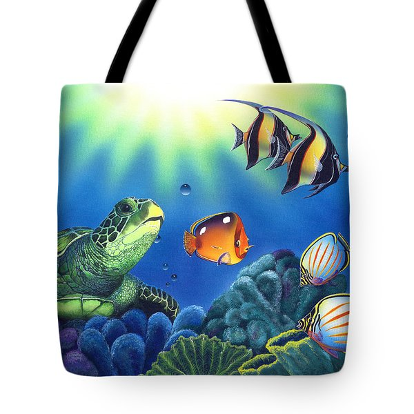 Turtle Dreams Tote Bag by Angie Hamlin