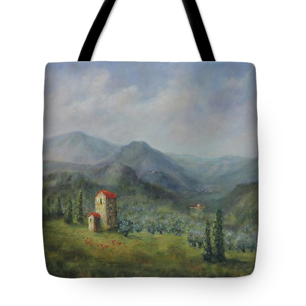 Tuscany Italy Olive Groves Tote Bag
