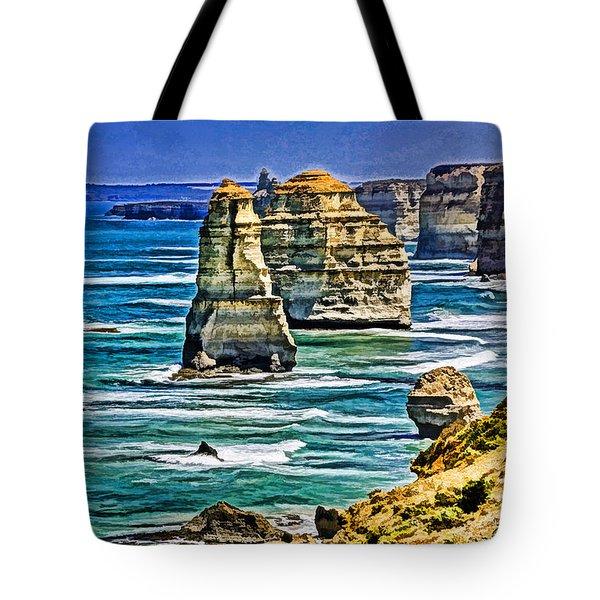 Twelve Apostles Tote Bag by Dennis Cox WorldViews