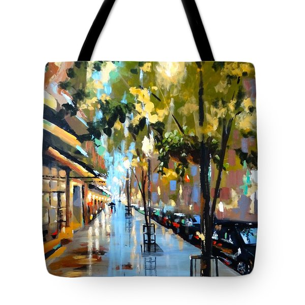 Twenty One East Hubbard Street Chicago Tote Bag