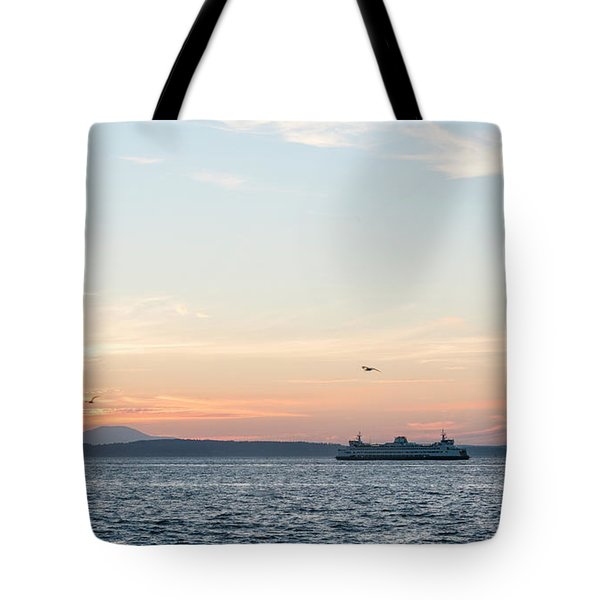 Twilight In Puget Sound Tote Bag
