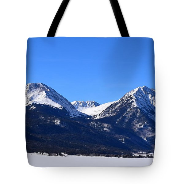 Tote Bag featuring the photograph Twin Lakes Mountains Leadville Co by Margarethe Binkley