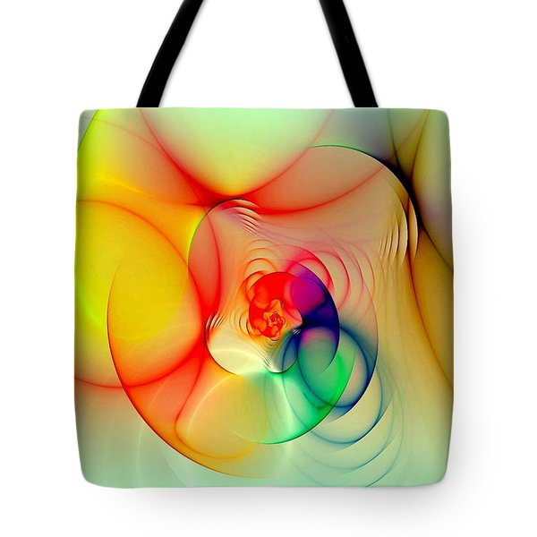 Twisted Rings Inverted Tote Bag