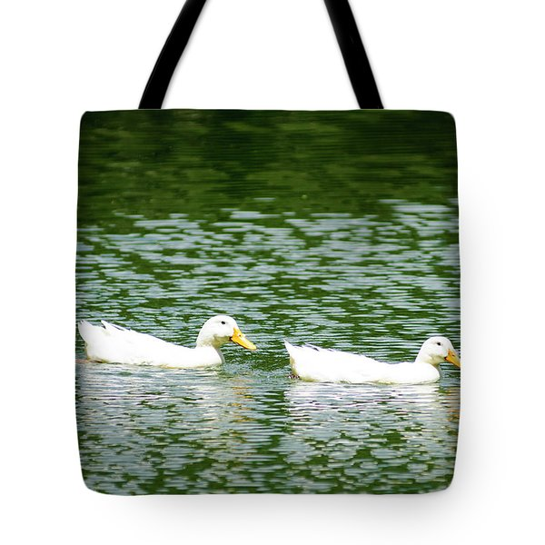 Two Ducks Tote Bag