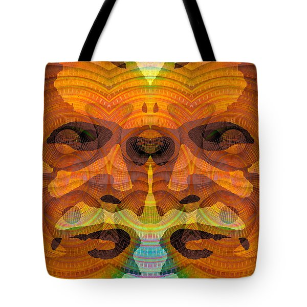 Tote Bag featuring the digital art Two-faced by Visual Artist Frank Bonilla