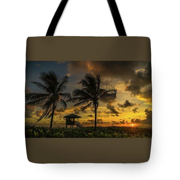Two Palm Sunrise Delray Beach Florida Tote Bag